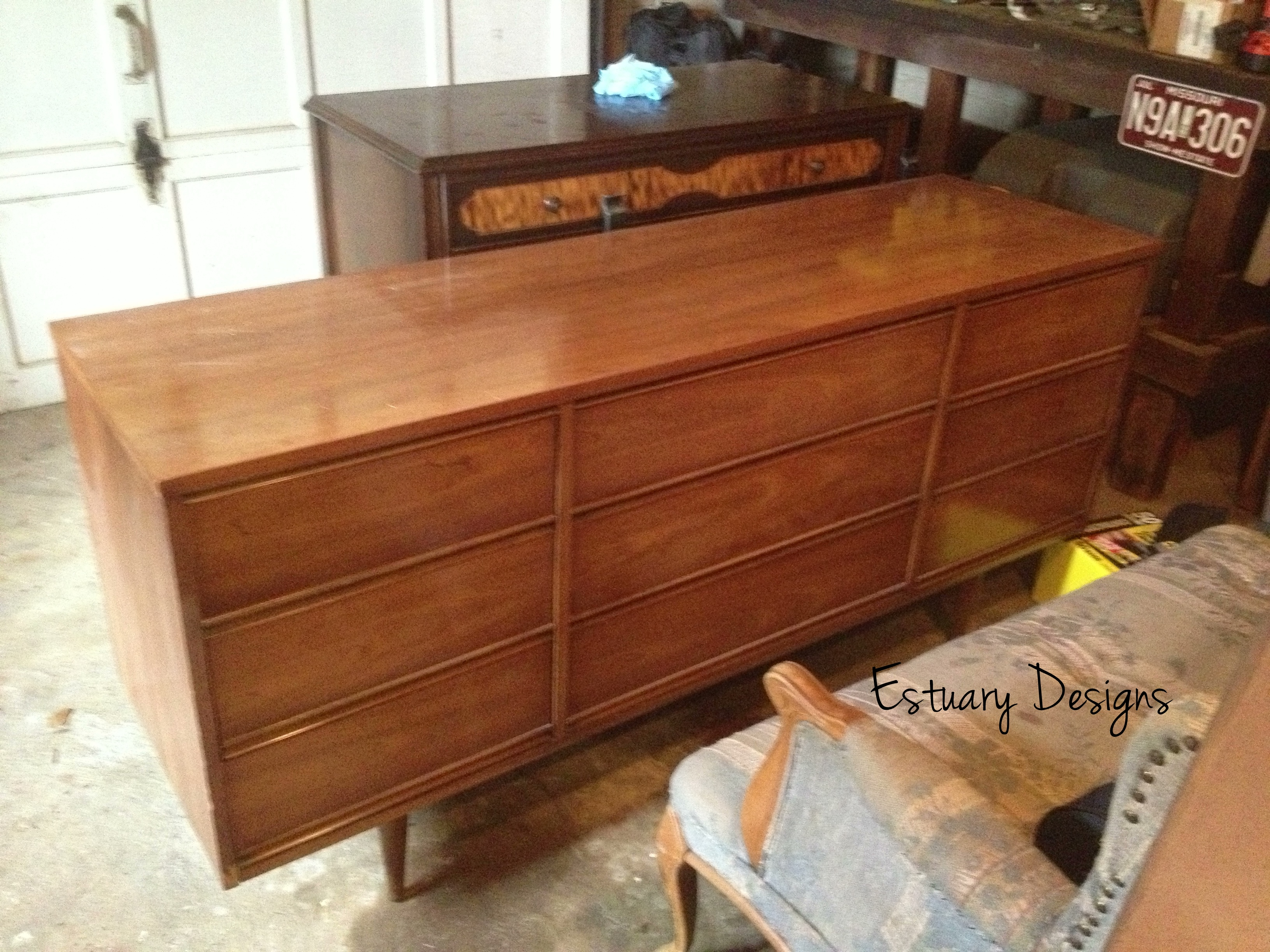 mid century wood dresser Furniture Debut: Mid Century Modern Dresser   Estuary Designs mid century wood dresser